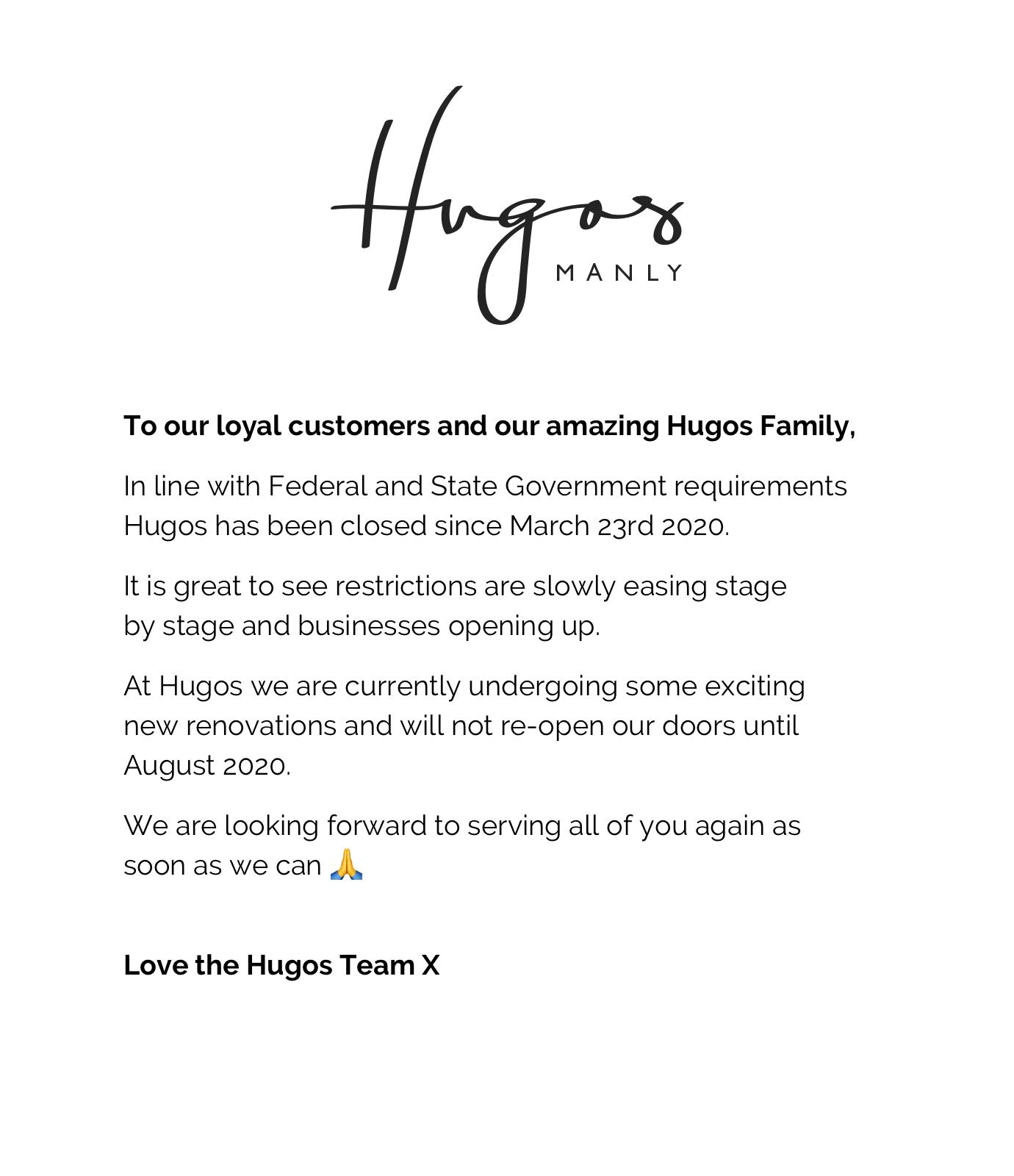 Hugos News Update